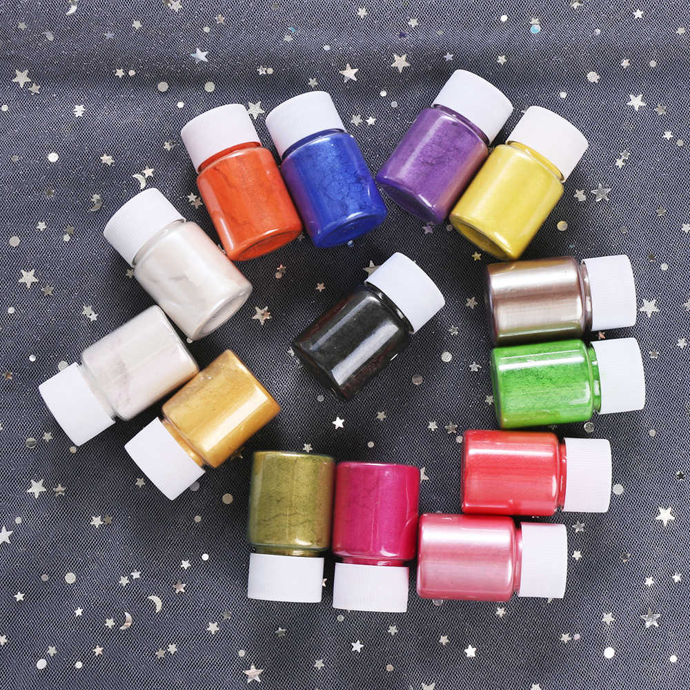 10g Resin Makeup Nail Polish Toiletry Soap Dye Shimmer Mica Powder Pigments Making Cosmetic Candle Making Eye shadow Crafts