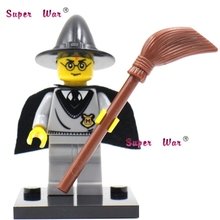 1PCS star wars superhero marvel Harry Potter with Wand building blocks action  sets model bricks toys for children
