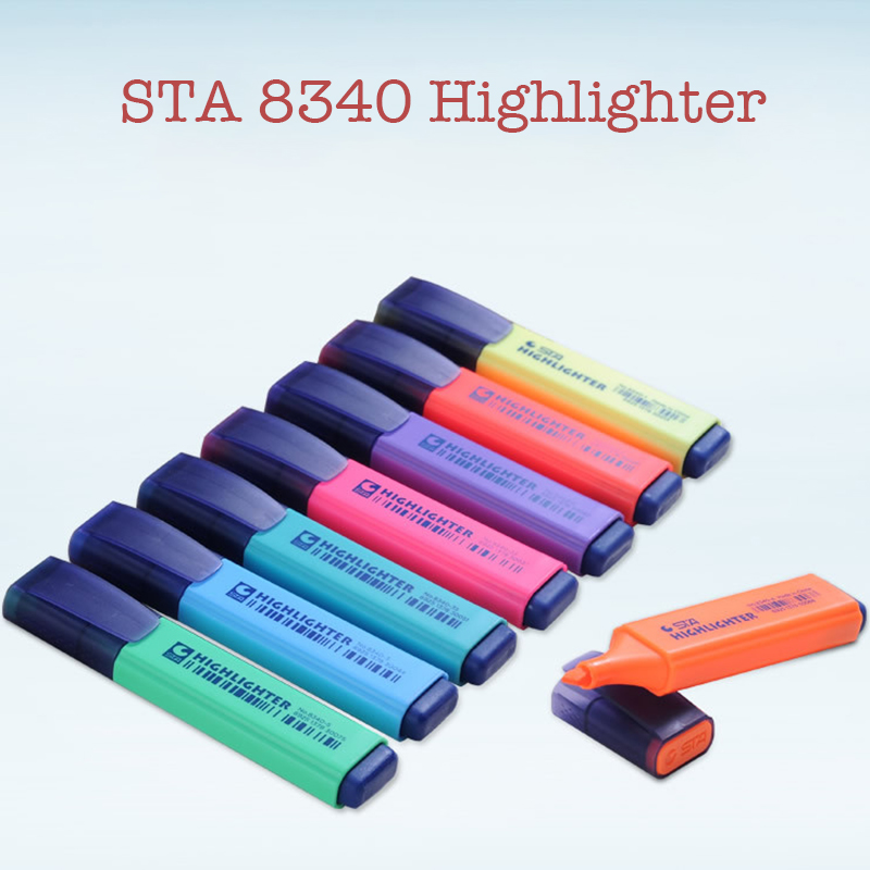 Sta8340 8 Colors Kawaii Brand Highlighters Marker Pens Mildliner Fluorescent Pen For Painting Office Stationery School Supplies