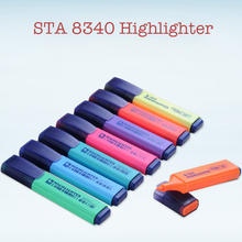 STA8340 8 Colors Kawaii Brand Highlighters Marker Pens Mildliner Fluorescent Pen for Painting Office Stationery School Supplies 10pcs set cute double head erasable fluorescent pen mildliner soft highlighters color marker scrapbook school supplies kawaii