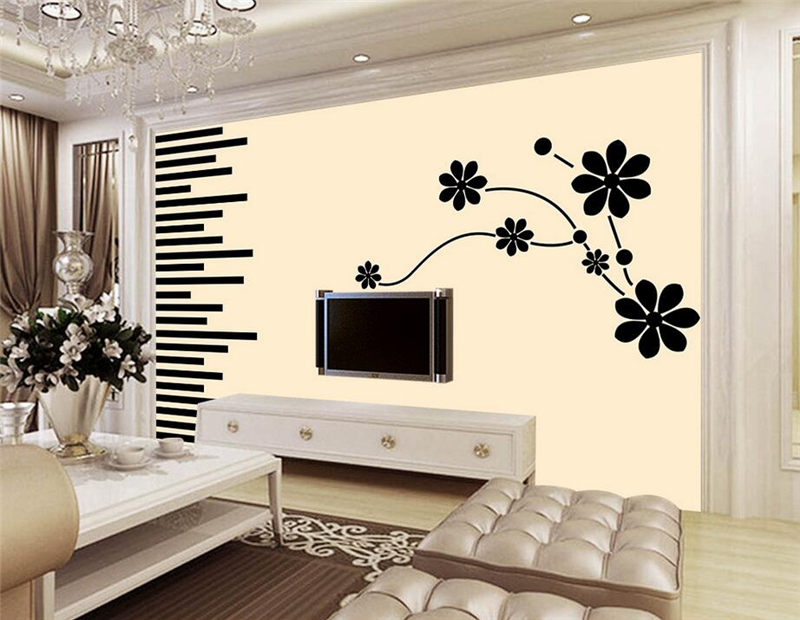 Custom 3d Wall Paper Hand Painted Dream Pattern Flower Chinese