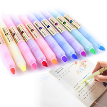 XYDDJYNL 1 Pcs Drawing Manga Art Marker Pens 10 Colors Highlighter Copic Markers Art Supplies Diy Scrapbooking School Supplies