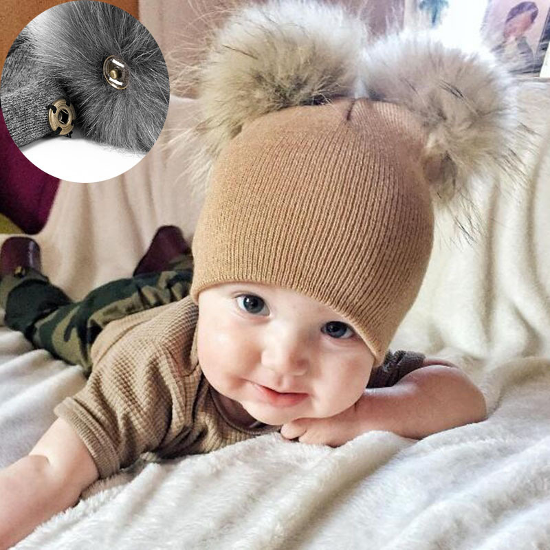 2019 Beanies Hat Baby Pompom Winter Children Hat Knitted Hat For Baby Girls Boys Casual Solid Color Girls Hat Baby Beanies(China)