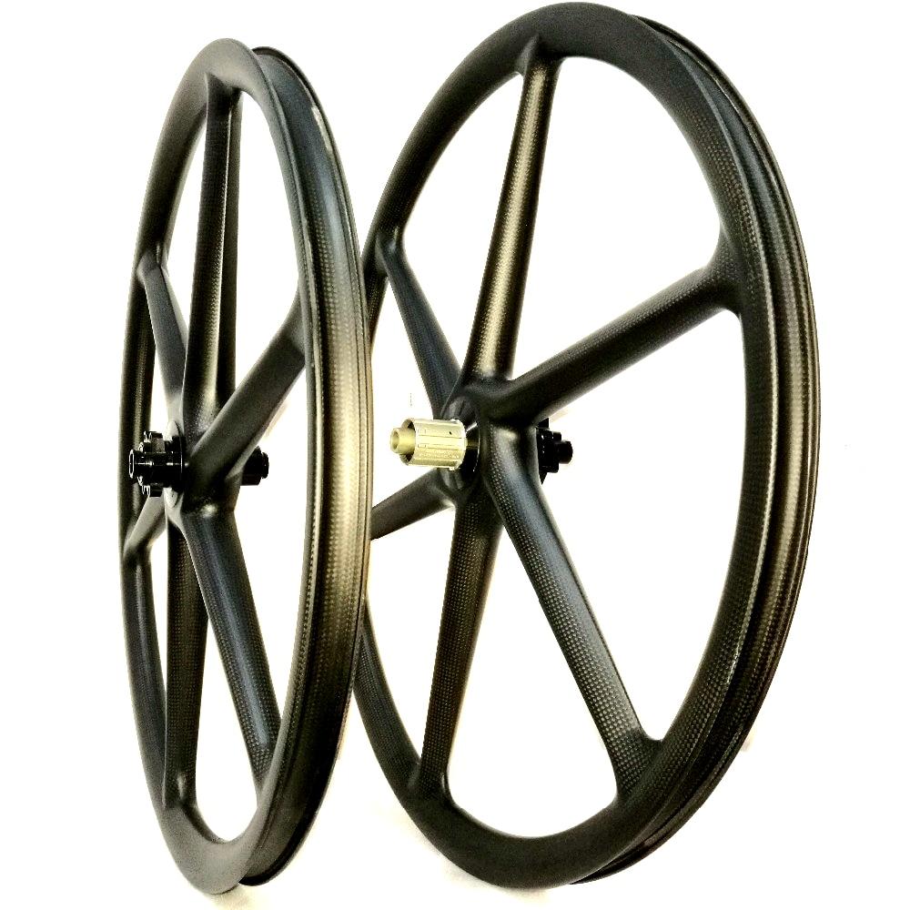 29er Carbon fiber 6 spokes wheel mountain Bicycle Wheelset 3K/UD Glossy MTB 29 inch wheels tropix wheel bicycle wheel 26 9 10 11 speed joyce hub flower drums mountain wheel 32h 26 inch bicycle wheelset