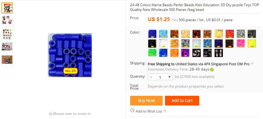 5mm Hama Beads 1 24 Colors Kids Education 3D Diy Toys 100
