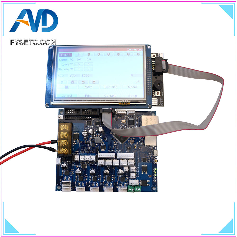 Cloned Duet 2 Maestro Advanced 32bit Motherboard With 4.3 5 7 PanelDue Touch Screen Controller For 3D Printer CNC Machine