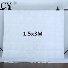 Estúdio de Fotografia Branco 1.5×3 m Não-tecido Pano de Fundo Estúdio de Fotografia Fundos Cenário Fotografia Foto Fundo PSB13A