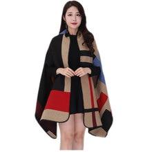 Зимние женские шарфы, женский шарф из пашмины, кашемировые пончо и накидки, клетчатая шаль, хиджаб, бандана, женская накидка