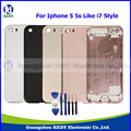 """100% Original Metal Back Housing Cover Assembly for iPhone 5 5s 4.0"""" Back Battery Door Cover Replacements Like 7 Style + Tools"""