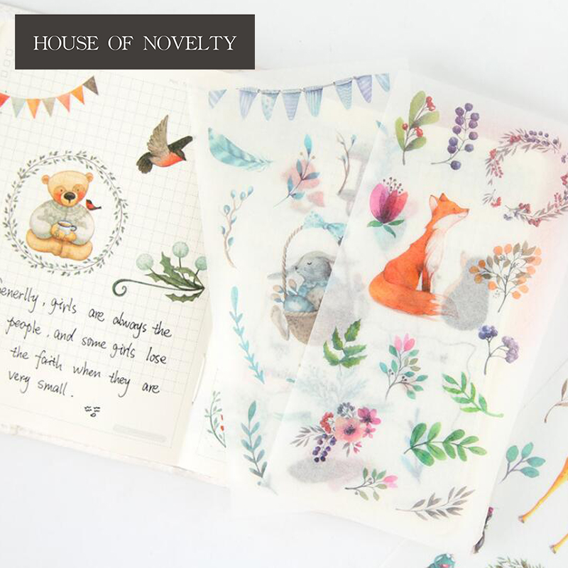 46Pcs Butterfly Stickers Creative Stationery Sticker Diary Scrapbooking r o