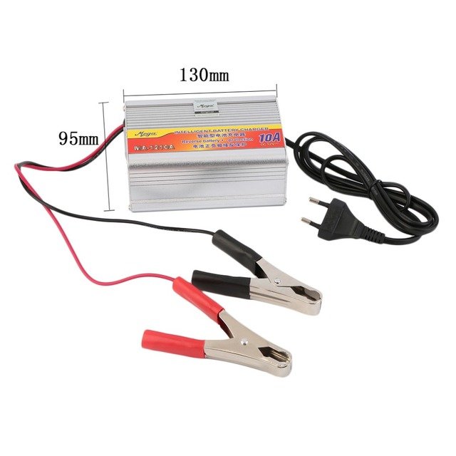 New 12V 10A Car Battery Charger Motorcycle Battery Charger Lead Acid Chargers EU Plug Wholesale