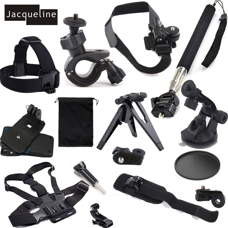 Jacqueline for Mount Kit Accessories for Sony action HDR-AS15 AS20 AS30V AS200V AS100V AZ1 mini for Polaroid XS100/XS80