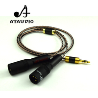 ATAUDIO Hifi 4.4mm to 2XLR Cable for Sony WM1A/1Z PHA 1A/2A Z1R 4.4mm Balance to Double XLR Male Upgrade Cable