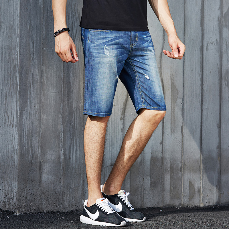 Pioneer Camp 2017 new arrival summer shorts casual pants trousers fashion denim shorts jeans men mid-rise jeans pioneer camp new summer thin jeans men brand clothing casual straight denim pants male top quality denim trousers anz703095