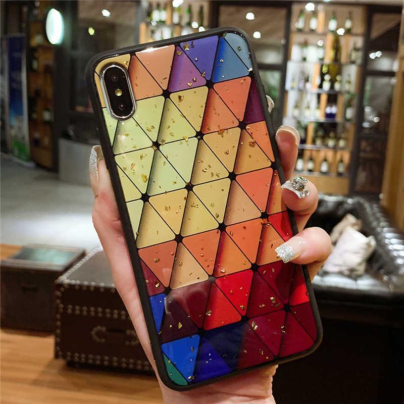 Case untuk iPhone X XR X MAX 7 7 Plus 6 6 S Plus Mewah Glitter Bling Marmer Phone Case untuk iPhone 7 8 6 6 S Plus Lembut TPU Cover