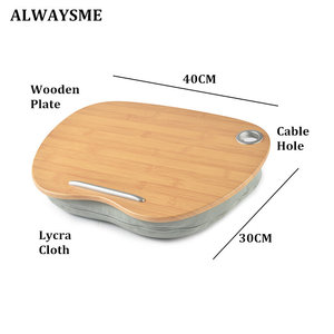 Image 4 - ALWAYSME Lap Desk Multi Function Knee Desk For Laptop Macbook iPad Tablet Laptop Phone Book Portable Hand Pilliow Knee Cushion