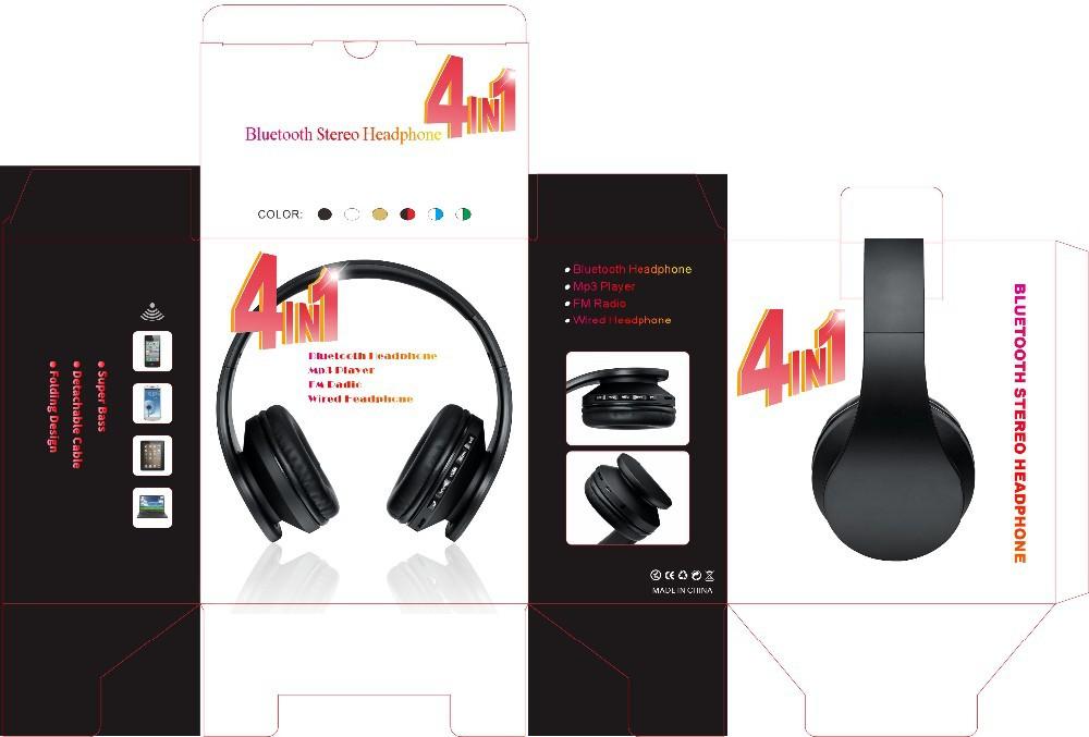 4in1 bluetooth headphone box