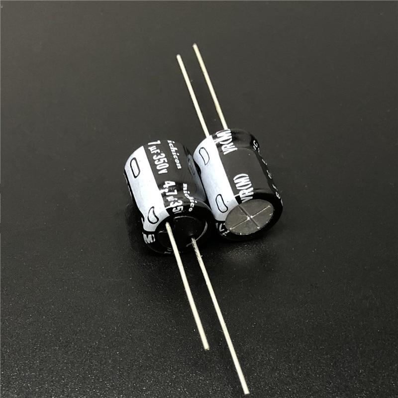 10pcs/100pcs 4.7uF 350V NICHICON VR Series 10x12.5mm 350V4.7uF Aluminum Electrolytic Capacitor