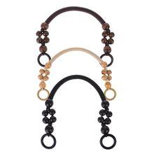 Bag Handle Wood Bead Rope Strap Shoulder Belt for Handbag DIY Replacement Accessories