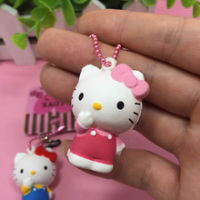 Hello Kitty squishy Mini 4cm Original Licensed package rare cute doll squishy cell phone Charm wholesale free shipping 10pcs/lot(China)