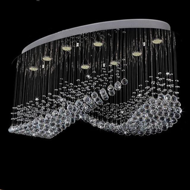 new item large crystal chandeliers lighting modern living room lamps lustre cristal led light. Black Bedroom Furniture Sets. Home Design Ideas