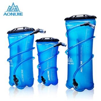 AONIJIE Açık Su Torbası Katlanabilir PEVA Spor hidrasyon kesesi Kamp Yürüyüş Tırmanma Için Bisiklet Koşu 1.5L 2L 3L