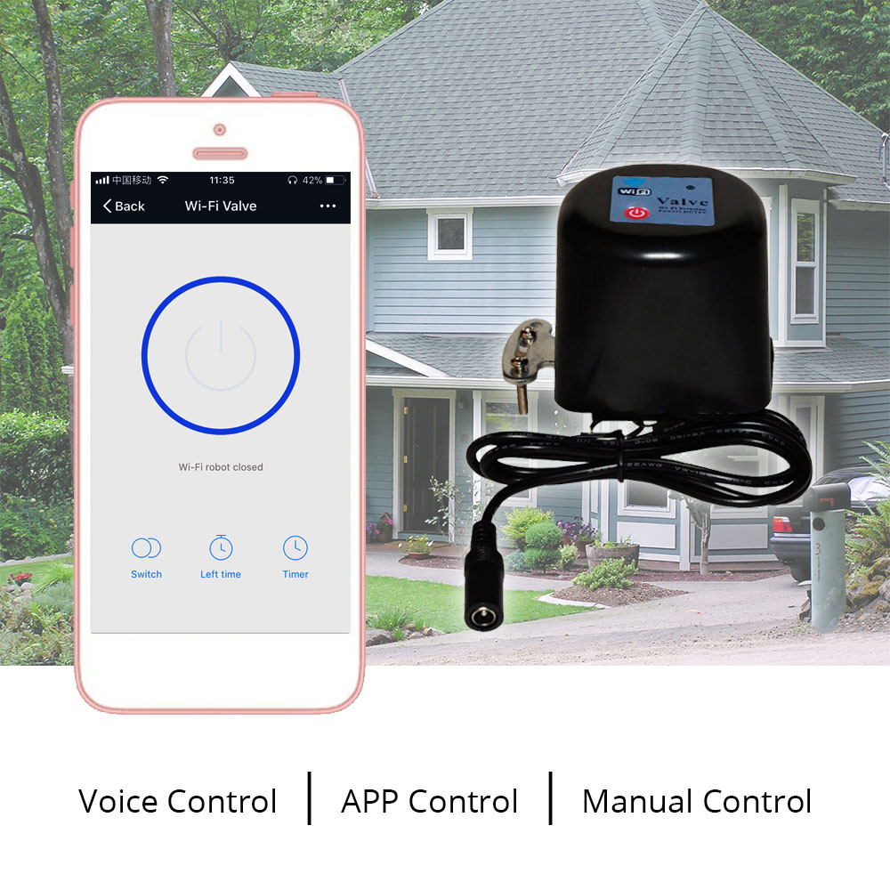 Building Automation Bright Tuya Amazon Alexa Google Assistant Ifttt Smart Wireless Control Gas Water Valve Smart Life Wifi Shutoff Controller