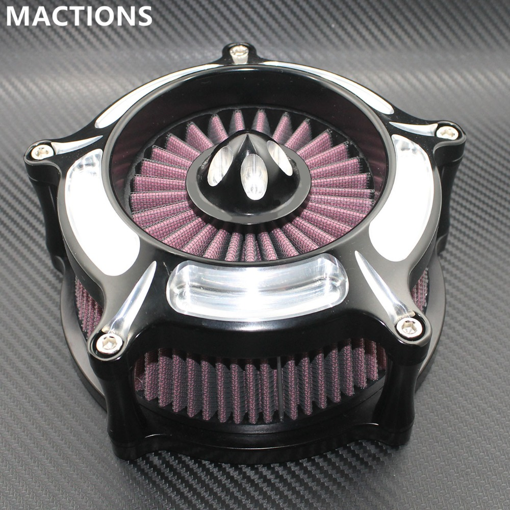 Motorcycle 3 Hole Air Filter CNC Crafts Air Cleaner Intake Filter For Harley Road King Gliding