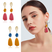 Fashion Big Resin Drop Earrings For Women 2019 New Trendy Geometric Jewelry Party Gift