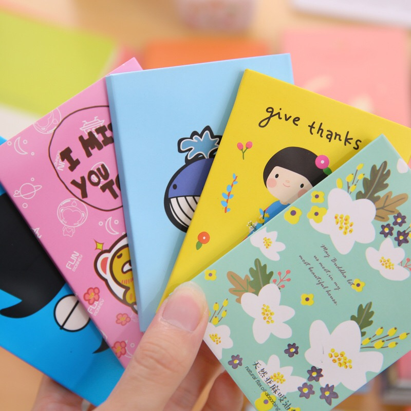 Tissue Papers Makeup Cleansing Oil Absorbing Face Paper Korea Cute Cartoon Flower Nose Tissue Papers Makeup Cleansing Oil Paper