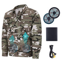 Unisex Workwear Jacket Clothes Equipped Cooling Fan for Summer Outdoor Air Conditioned TY53
