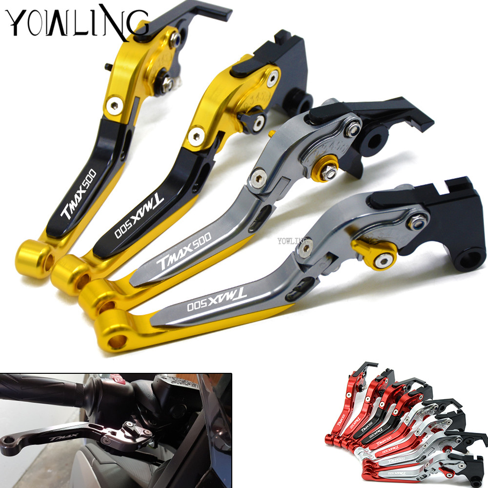 For YAMAHA T-MAX TMAX 500 TMAX500 2001 2002 2003 2004 2005 2006 2007 CNC Adjustable Extendable Motorbike Brakes Clutch Levers cnc motorcycle brakes clutch levers for yamaha xp 500 t max tmax 500 tmax500 2001 2002 2003 2004 2005 2006 2007 free shipping