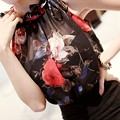 Sexy Floral Chiffon Tops Sleeveless Short Crop Top Summer Style Women Clothes Goes With Skirt
