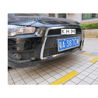 ABS Chrome front grille racing grids around the trim For Mitsubishi Lancer/Lancer X/Lancer Evo 2010 2013 Car styling