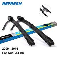 Car Wiper Blade For Audi A4 24 20 Rubber Bracketless Windscreen Wiper Blades Wiper Car Accessories