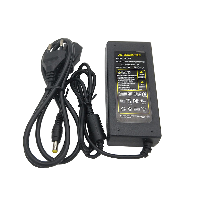 12 v 5A 60 w 110 v-220 v Éclairage Transformateur, haute qualité LED pilote pour LED bande 8520 5730 7020 5050 alimentation, Livraison gratuite
