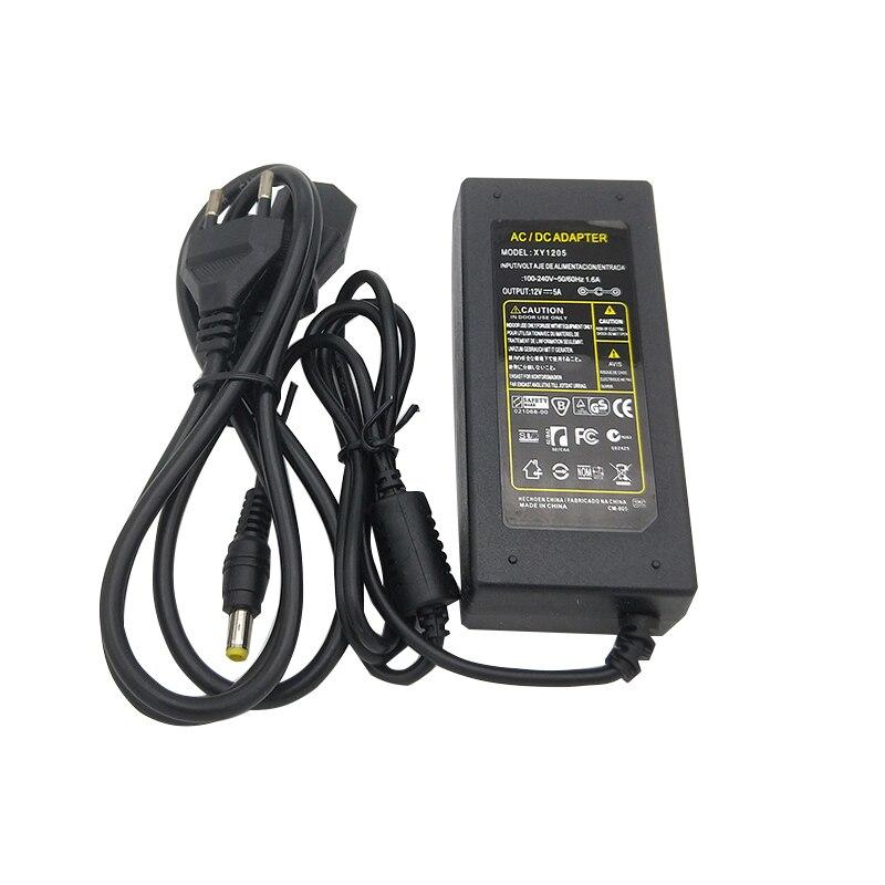 12 v 5A 60 watt 110 v-220 v Beleuchtung Transformator, hohe qualität led-treiber für LED streifen 8520 5730 7020 5050 power versorgung, Freies verschiffen