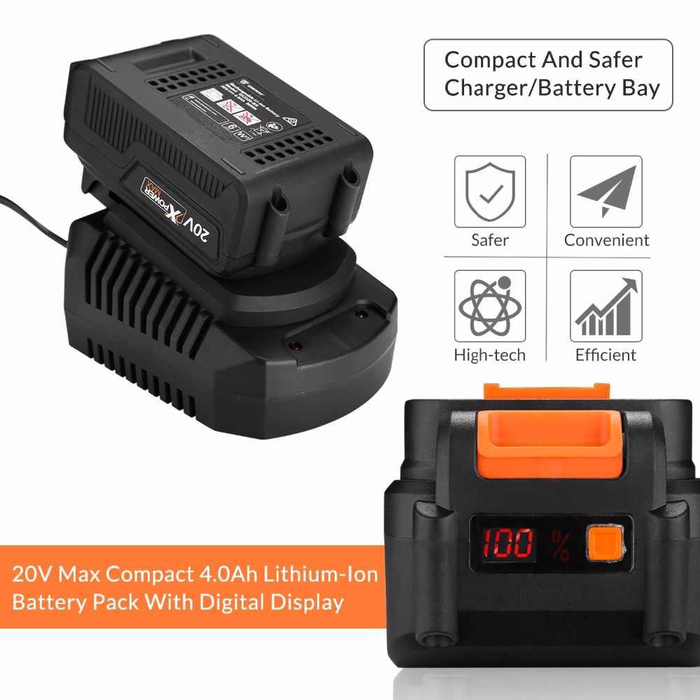 DEKO GBW20DU2 4000mAh 20 volts Max clé à chocs électrique sans brosse batterie Lithium-Ion 2000 tr/min 310Nm couple