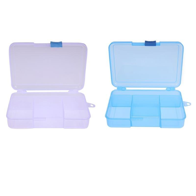 1 шт. Пластик 5 сетки регулируемые ювелирные изделия Пластик коробка для хранения Craft Организатор Бусины multi Дизайн ногтей Совет контейнер дл...