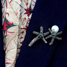 Anslow Top Quality Original Design Vintage Retro Starfish Brooch Pin For Women Men Female Coat Suit Dress Jewelry Accessories(China)