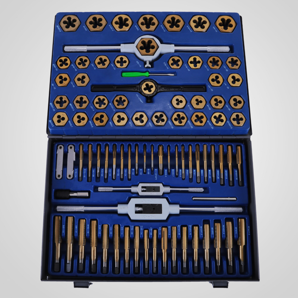 New 86pc Tap And Die Combination Set Tungsten Steel Titanium SAE AND METRIC Tools