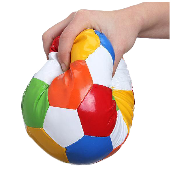 HOT 2X 1pc 14.4cm Soft Indoor PVC Surface Football Soccer Play Ball Toy