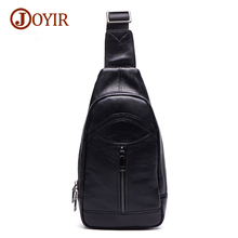 Joyir fashion crossbody bags for men messenger chest bag pack casual bag genuine leather single shoulder strap pack 2017 6327