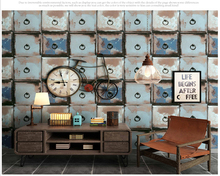 цены beibehang American personality 3d wallpaper antique pattern living room bar clothing store barber shop background wall paper