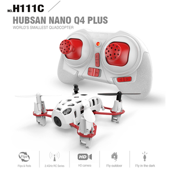 New Original Hubsan NANO Q4 PLUS H111C RC Quadcopter With 480P HD Camera 3D Flips RTF