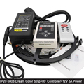 IP20 Non-Waterproof  5M 12V 6803 IC Magic Dream Color LED Strip + 133 Program RF Remote Controller + 12V 5A Power Adaptor Set