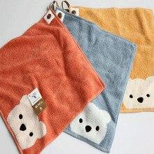 Детское полотенце для мальчиков и девочек; детское полотенце с рисунком медведя из мультфильма; Хлопковое полотенце для рук; детское полотенце для лица; Товары для детей