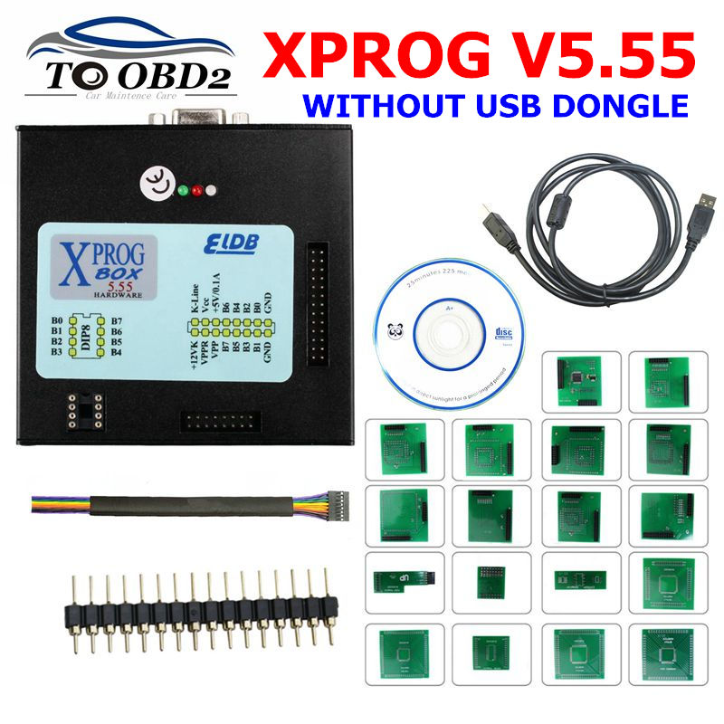 <font><b>Xprog</b></font> <font><b>V5.55</b></font> X-prog M Box 5.55 <font><b>Xprog</b></font>-M <font><b>V5.55</b></font> ECU Programmer Better Than <font><b>Xprog</b></font> M V5.50 new cartons without USB Dongle image