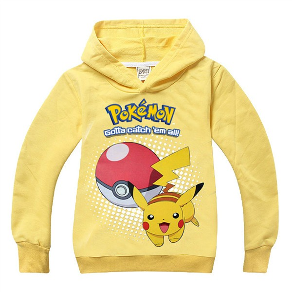 pokemon costume Hoodie toddler boys girls hooded pullover full sleeve tops children clothes pink black Size for 4 5 6 7 8 years (1)