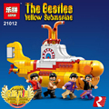 LEPIN 21012 The Beatles John Lennon George Ideas The beatles Yellow Submarine Drag Racer Car Building Blocks Bricks Toys 21306